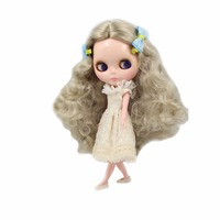 Wig Scalp Long For Blyth Hair Doll Curly Gray Silver 12