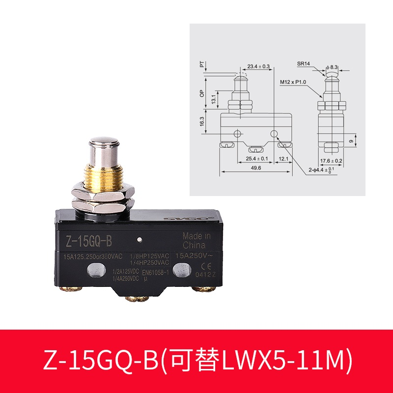 curso interruptor de limite interruptor micro z 15gq b lwx5 11m contatos de prata