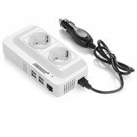 BESTEK 200W Power Inverter DC 12V To AC 230V Car Converter With 4 Port USB Charging