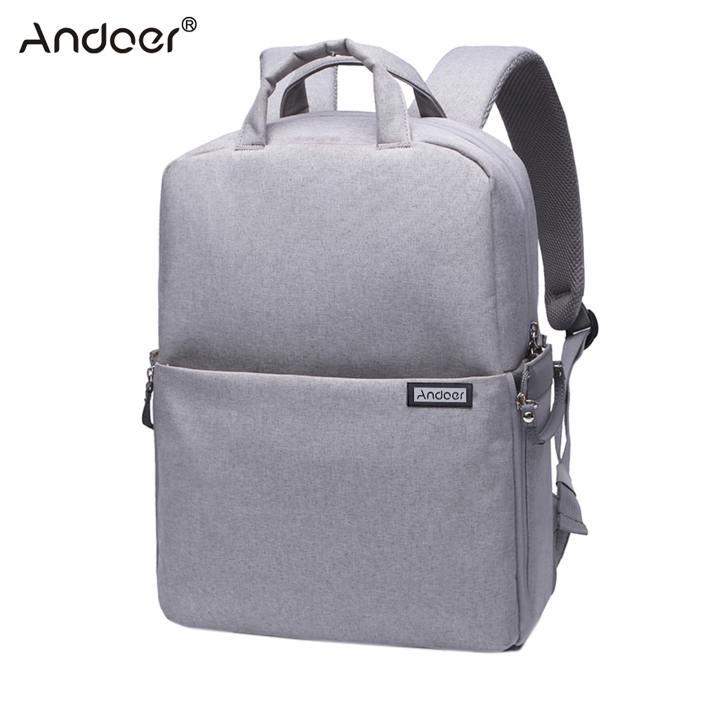 Andoer Water resistant Shockproof DSLR Camera Bag Photography Video Backpack Shoulder Bag for Nikon Canon Sony