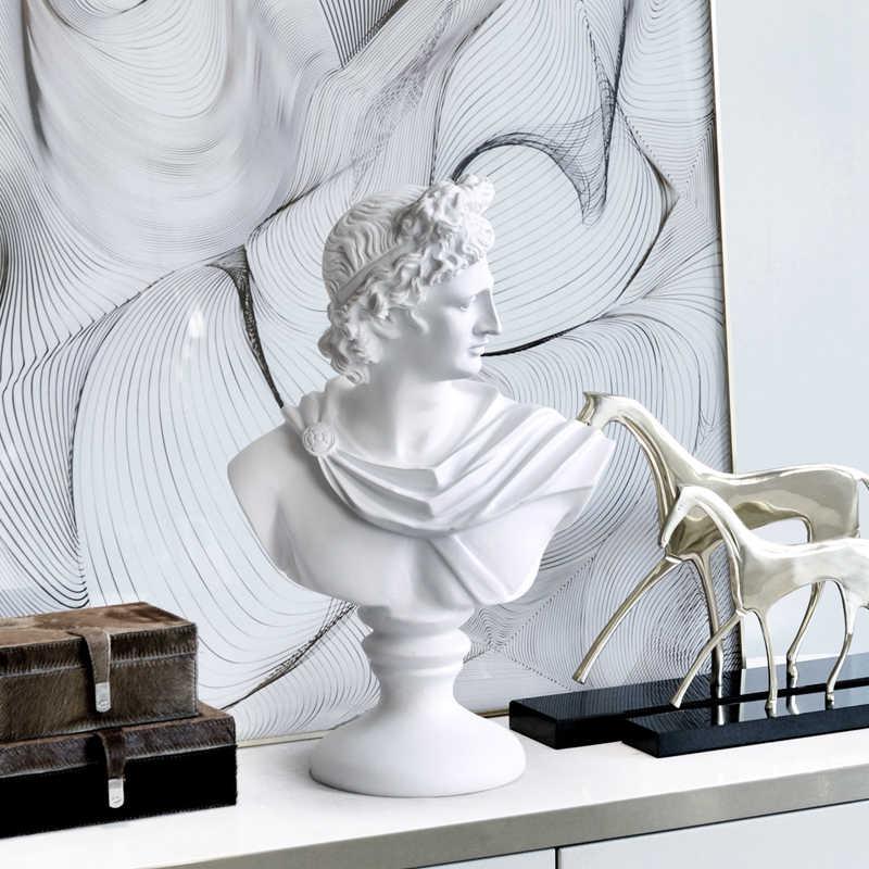 Retro David Testa Ritratti Del Busto Venus Statua di Michelangelo Buonarroti Decorazioni per La Casa Della Resina Artigianato di Arte Materiale 36 Centimetri L2182