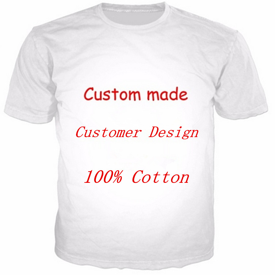 Customized Cotton 3d Tshirt Men Customer Print On Demand 3d Fashion