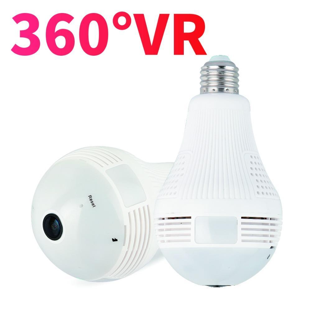 1080 P Full HD Wi-Fi FishEye caméra 360 degrés ampoule lumière Mini VR caméra 3 MP panoramique sans fil IP caméra moniteur de sécurité à domicile