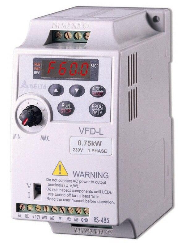 VFD007L21A DELTA VFD-L VFD Inverter Frequency converter 750W 1HP 1PHASE 230V 400hzfor small horsepower motors new original frequency converter delta inverter vfd015v43a 380v 1 5kw