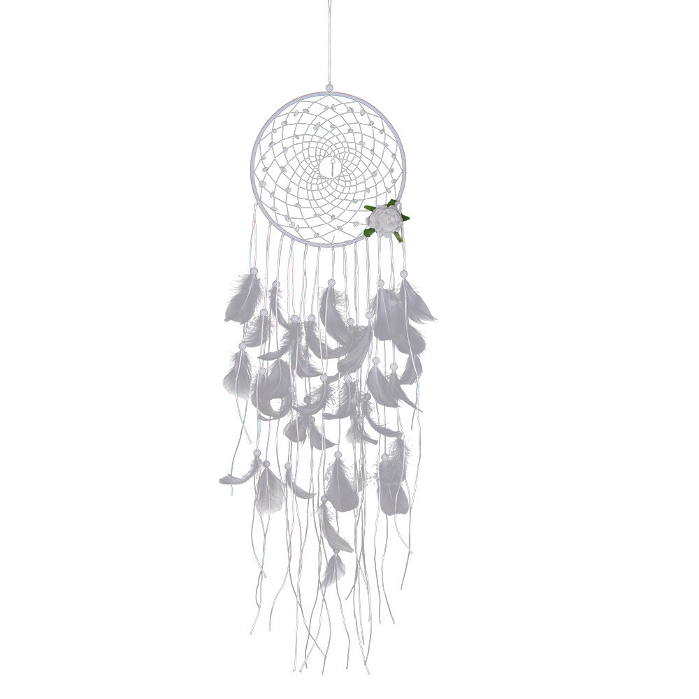 2018 New Handmade Dreamcatcher Crochet Feathers Flower Car Wall Hanging Room Home Decor  #NE828