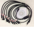 Multifunction 8 in 1 USB Programming Cable for kenwood baofeng motorola yaesu for icom Handy walkie talkie car radio CD Software