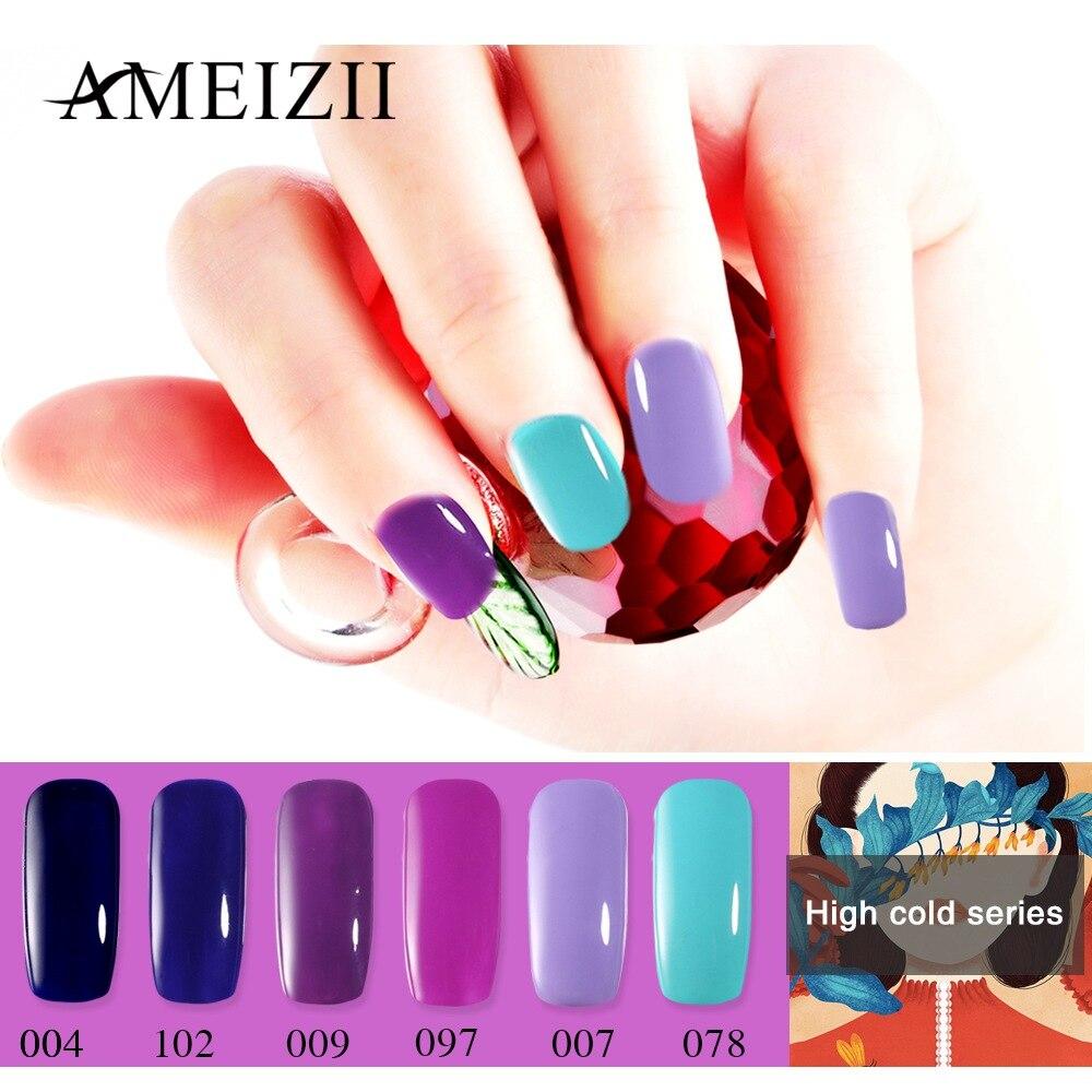 AMEIZII Nail Gel Polish UV LED Gel Varnish Polish For Manicure Soak Off Top Base Coat Semi Permanent Hybrid Nails Art Lacquer