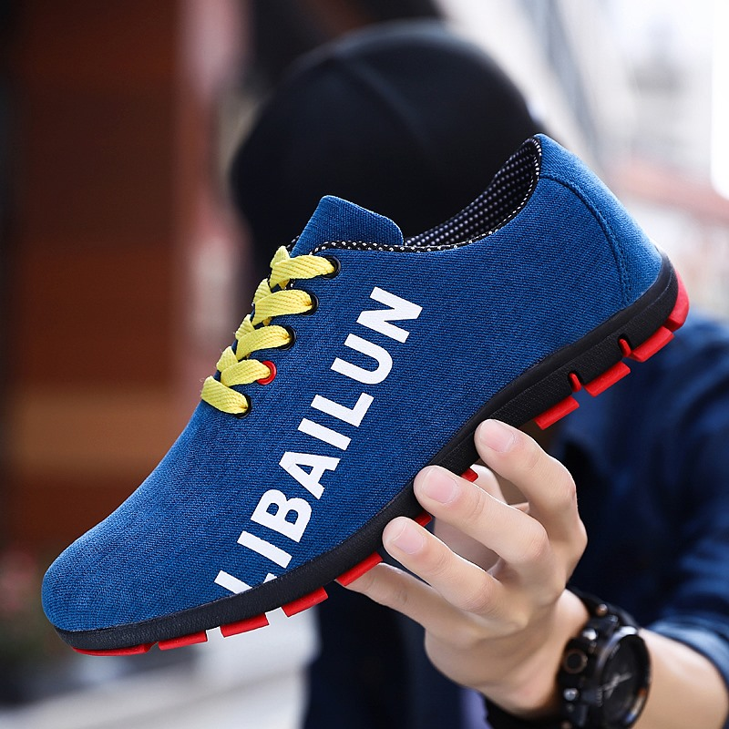 2020 New Men Sneakers Fashion Casual Shoes Male Flat Shoes Adult Lace Canvas Shoes Black Sneaker Men Shoes Tenis Masculino