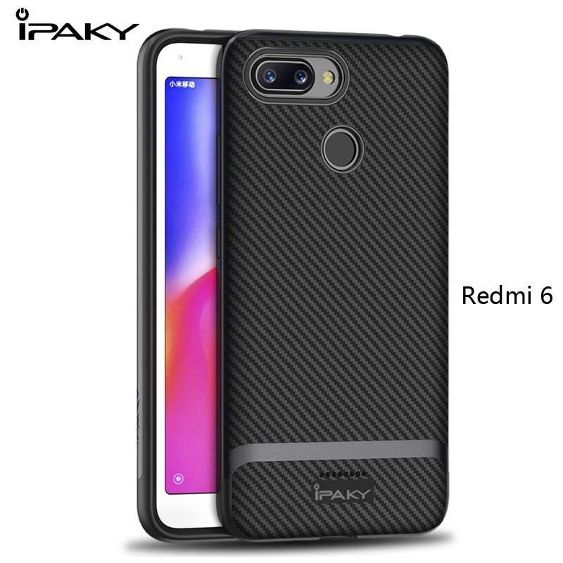 US $4 99 28% OFF IPAKY for xiaomi redmi 6 pro case Fashion Hybrid Silicone  xiaomi redmi 6 Back Cover + PC Frame for xiaomi redmi 6A case redmi6-in