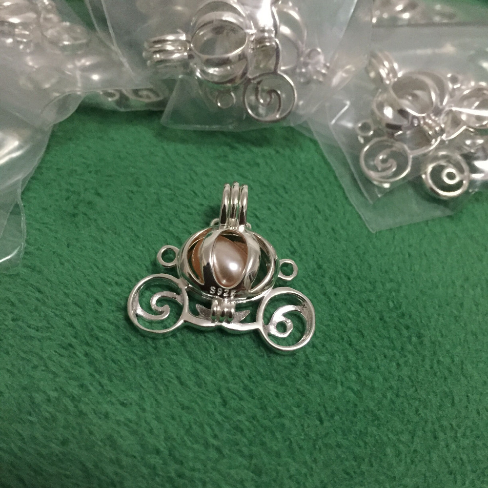 925 silver carriage locket cage pendant mounting can open sterling 925 silver carriage locket cage pendant mounting can open sterling silver pumpkin style pearl pendant fitting charms in pendants from jewelry accessories aloadofball Image collections