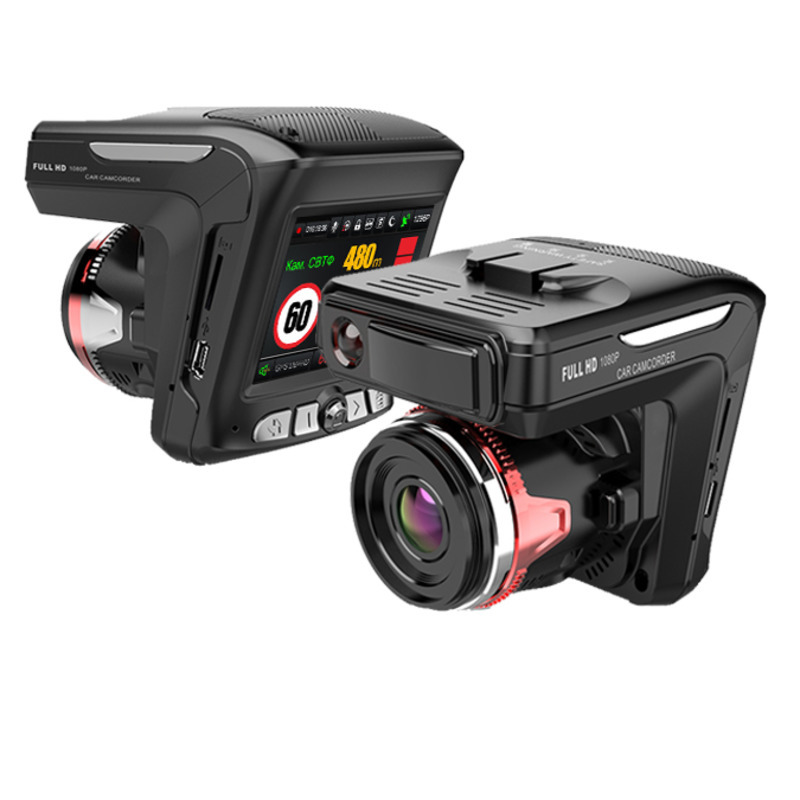 Caméra de bord de voiture XPX G565-STR Dvr 3 en 1 GPS Radar Dvr 3in1 caméra de voiture DVR Full HD 1296 P g-sensor enregistreur vidéo avec Antiradar