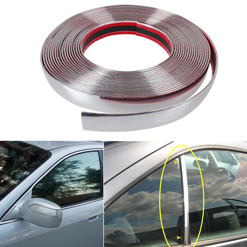 16FT x22mm Car Chrome Moulding Trim Strip Door Edge Bumper Guard Protector Decor