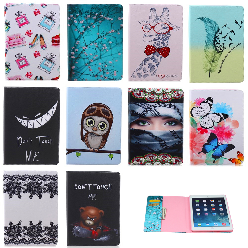 For Samsung Galaxy Tab A 7.0 SM-T280 SM-T285 funda cartoon print pu Leather Flip cover for Samsung T280 T285 Tablet cases #R
