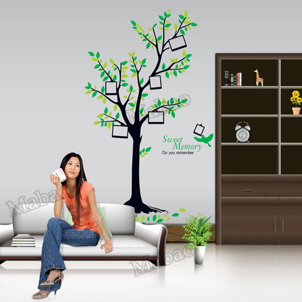 Mabao summer style wall sticker living room decoration for Diy tree wall mural