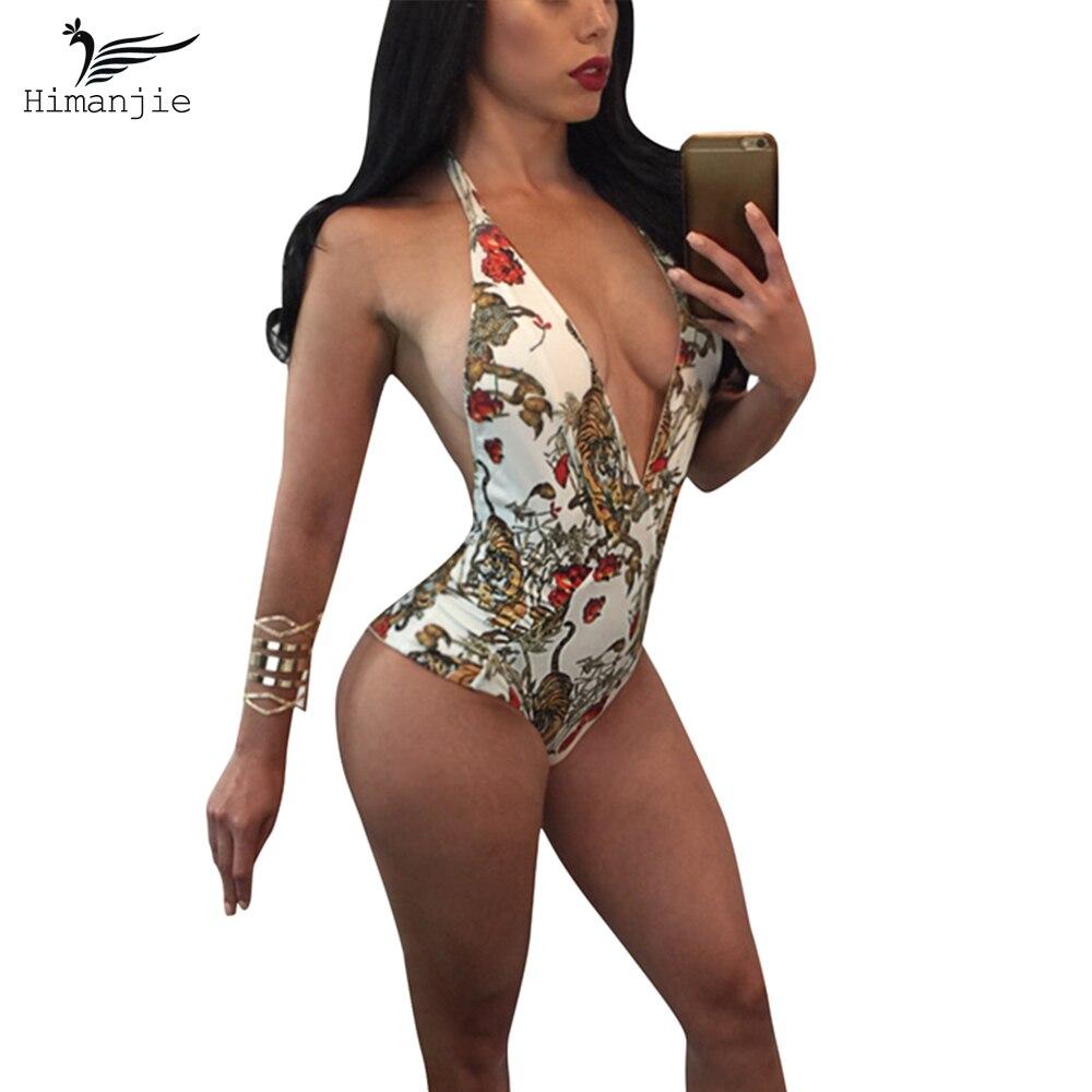 Mujeres Sexy Traje de Baño de Una Pieza del traje de Baño Retro V Profundo Backl