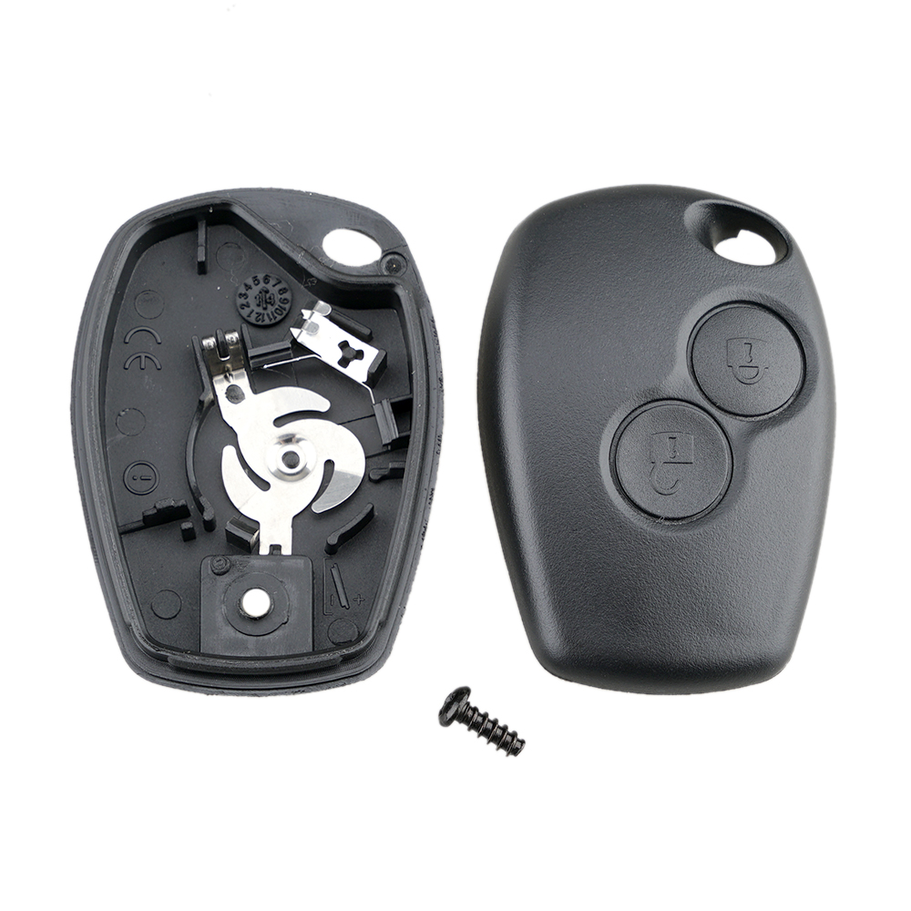 Capa para chave de carro sem lâmina 2 botões, cobertura remota para renault dacia modus, 2020 clio 3 twingo kangoo 2