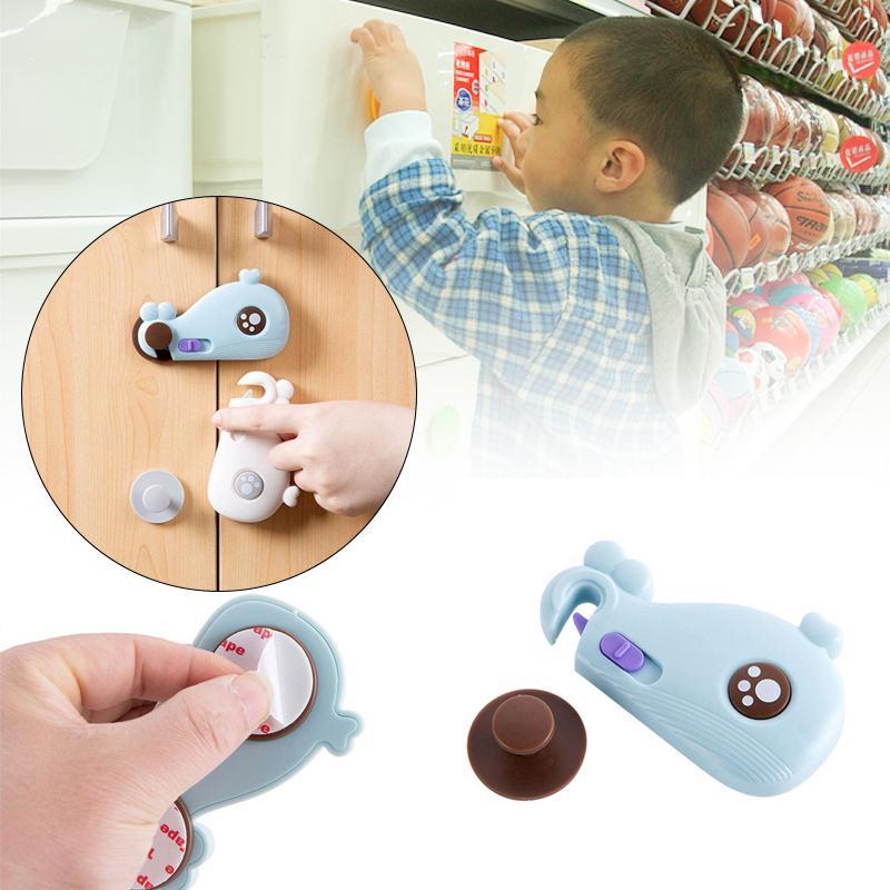 Drawer Door Cabinet Cupboard Toilet Locks Baby Kids Care Plastic Locks Straps Infant Baby Protection
