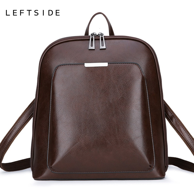 Vintage Backpack Female Brand Leather Womens backpack Large Capacity School Bag for Girl Leisure Shoulder Bags 2018Vintage Backpack Female Brand Leather Womens backpack Large Capacity School Bag for Girl Leisure Shoulder Bags 2018