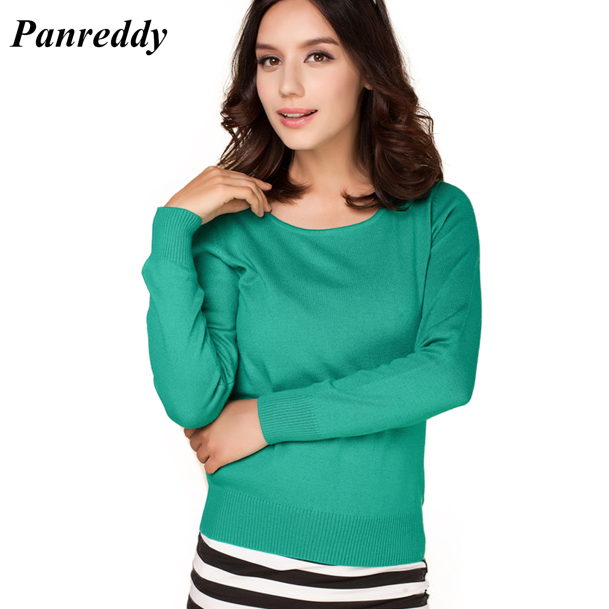 2016 Cashmere Sweater Women Sweaters and Pullovers Women Fashion O Neck Solid Color Long sleeve XXL
