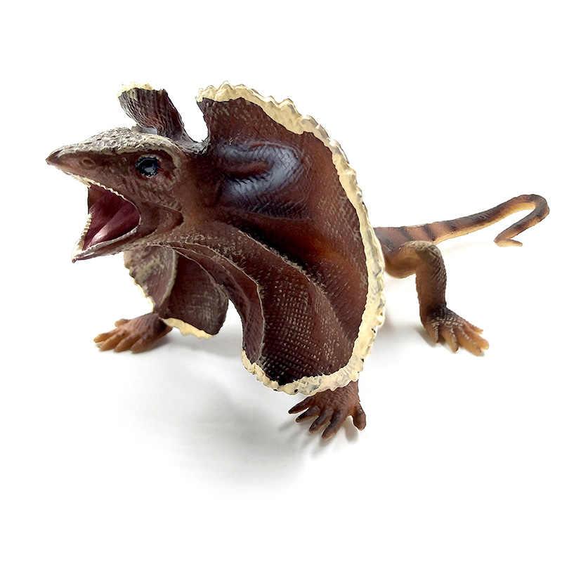 Pequeno kawaii simulação floresta frisado lagarto morcego figurinhas modelo animal figuras acessórios de decoração para casa ação estátua brinquedos