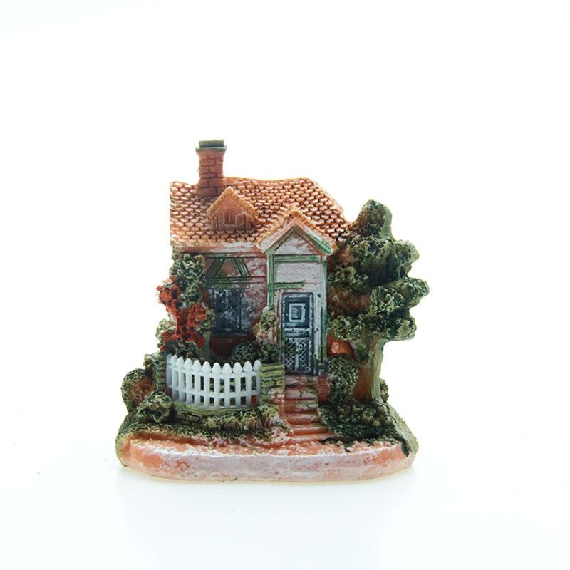 Artificial Mini Micro Landscape House Resin Crafts Fairy Garden Decoration Home Miniature Garden Decoration Accessories