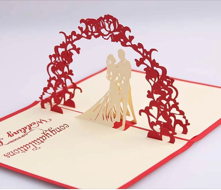 online shop wedding 3d pop up invitation card bridal and groom cards aliexpress mobile - Pop Up Wedding Invitations