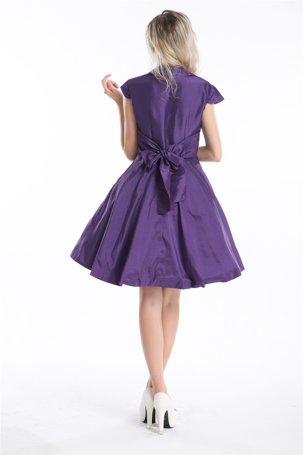 Hepburn Style Dress Red 1950s 1960s Rockabilly Swing Evening Pinup ...