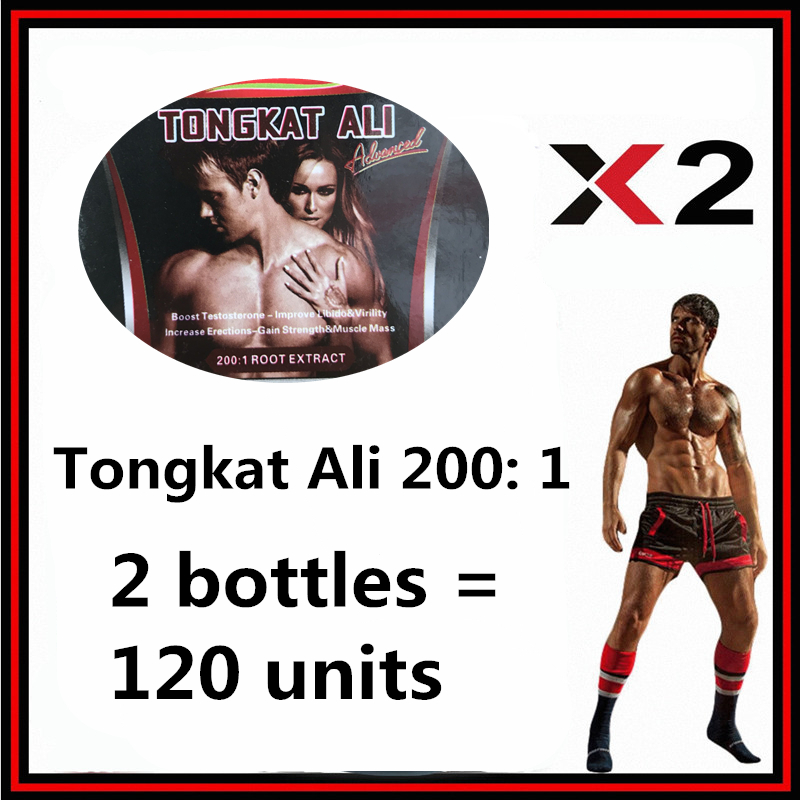 2 bottles 120 units Tongkat Ali 200:1 ,Increases sexuality&Strong erections,viagra for men,make love supplement cekc