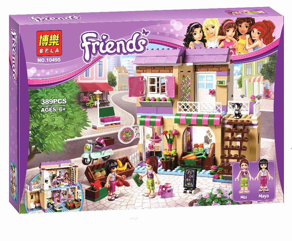 New BELA Friend Series City Food Market Building Blocks Friends figures Bricks Gift Toys Compatible Lepin Friends 41108 lepin 02012 city deepwater exploration vessel 60095 building blocks policeman toys children compatible with lego gift kid sets