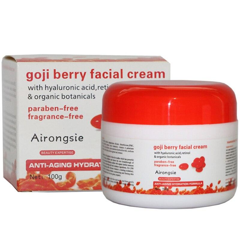 Acide hyaluronique crème crème pour le visage 100g goji multi effet de goji anti vieillissement anti wrinkleanti oxydant de goji berry blanchiment crème