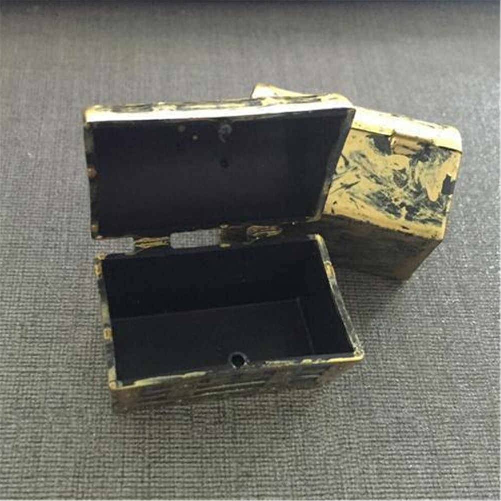 2Pcs Mini Pirate Jewelry Box Case Dollhouse Miniature Vintage Treasure Box Kids Play Toys  Doll House Accessories