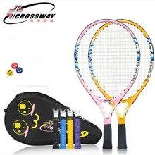 29333f3de 19 Polegada Peso Leve Raquete De Tênis Raquete de Tênis Crianças Kid Paddle  Com Ténis De