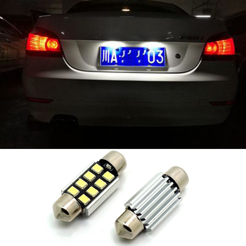 For BMW E46 E39 E36 E90 E60 E30 E53 E70 M3 M5 Car LED 36mm White Canbus C5W 2835SMD License Plate Light Interior Lights Bulb image