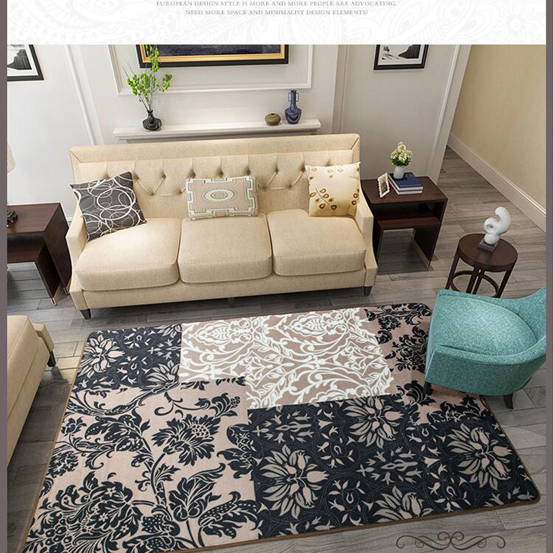 160X 230cm Large Size European Turkey Carpet And Floor Rugs Mats and Carpets Modern Anti-skid Carpets For Living Room Bedroom