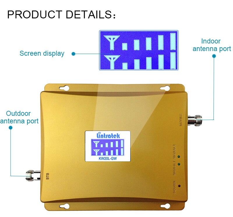Lintratek gsm900 répéteur gsm 2100 (bande 1) amplificateur de signal de téléphone portable booster 2g 3g amplificateur cellulaire et internet 2100 S51 - 2