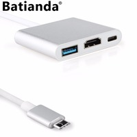 Multiport Adapter USB 3.1 Port to 1 USB 3.0 Ports +HDMI Hub + Type C Charger Conventor for New MacBook Pro 13 15 / Retina 12