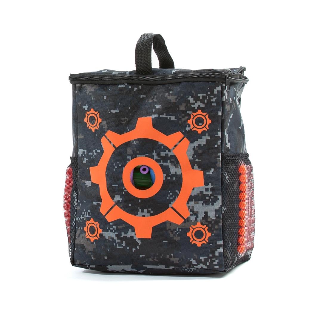 Oxford Cloth Target Pattern Shooting Practice Bag Soft Bullet Bag for Nerf - Camouflage