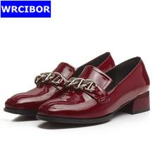 font b Women b font Patent leather Flat Oxford Shoes font b Woman b font