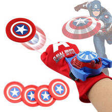 5 Types PVC 24cm Batman Glove Action Figure Spiderman Launcher Toy Kids Suitable Spider
