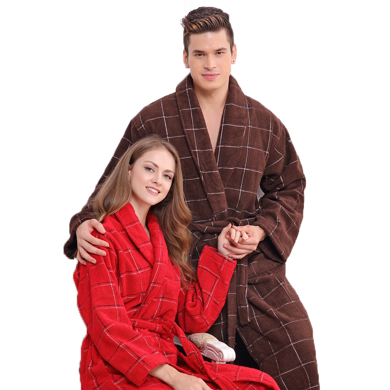 Autumn Winter Thick Long Cotton Bathrobe Men Male Blanket Towel Fleece  Robe Lengthen  Long-sleeve Sleepwear Nightgown