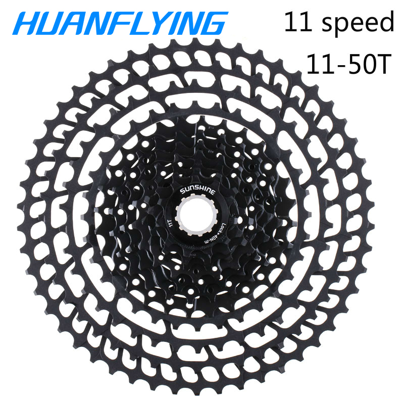 Sunshne Ultralight 11 Speed Flywheel Cassette 365g Bicycle Freewheel 11 50T Bicycle Parts Mountain For Shimano