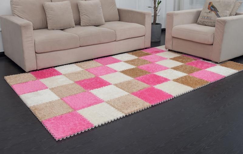 9pcs home room decoration soft carpet puzzle mats non toxic shaggy rug eva foam floor mat baby enviromental interlocking tiles-in Mat from Home & ...