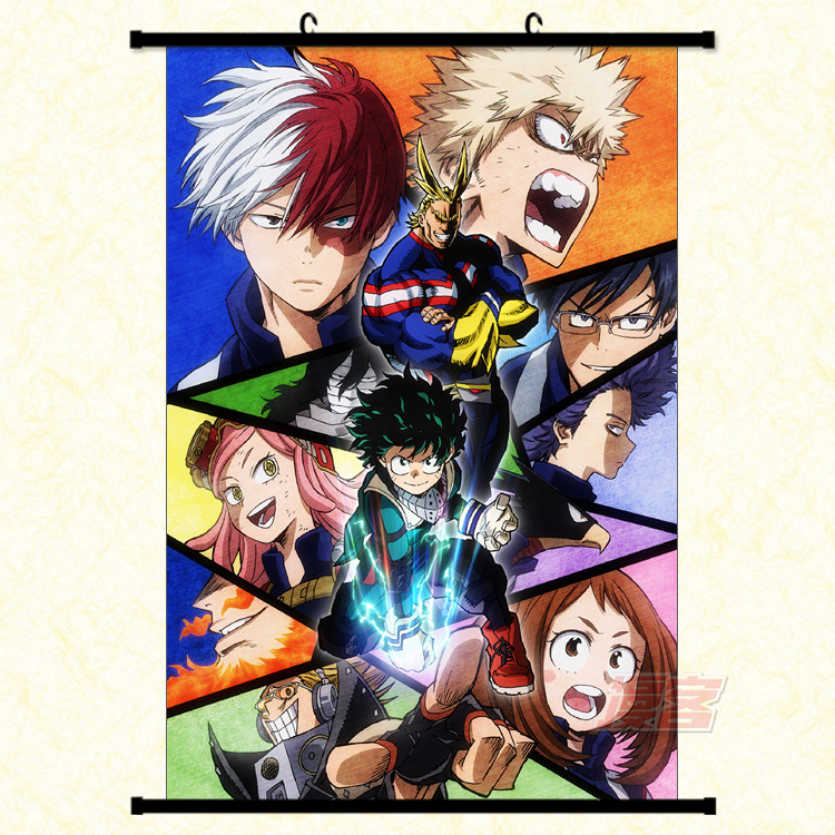 My Hero Academia Scroll Canvas Fantasy Motivational Abstract Art Laminas Decorativas Pared Cuadros Painting by Numbers HD DIY in Painting Calligraphy from Home Garden