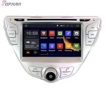 "Topnavi 7 ""octa Core 2 GB RAM Android 6.0 car Radios estéreo GPS para Hyundai Elantra/MD 2011 -REPRODUCTOR DE DVD de audio"