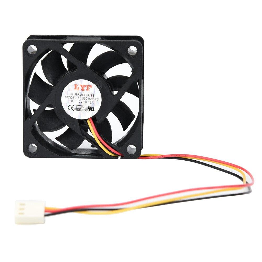 100 Pcs 12V 3pin 60mm 15mm Cooling Case Fan 60x60x15mm PC Computer CPU Cooler