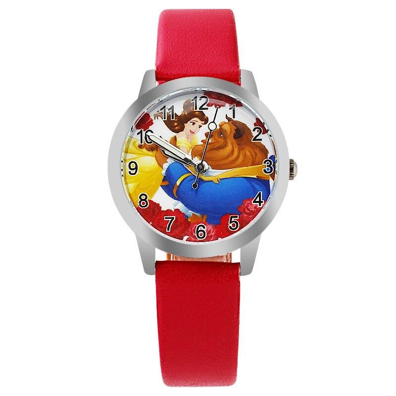 Cartoon Princess Children's Watch Quartz Watch Children Kids Girls Boys Casual Fashion Bracelet Wrist Watch Relogio Feminino