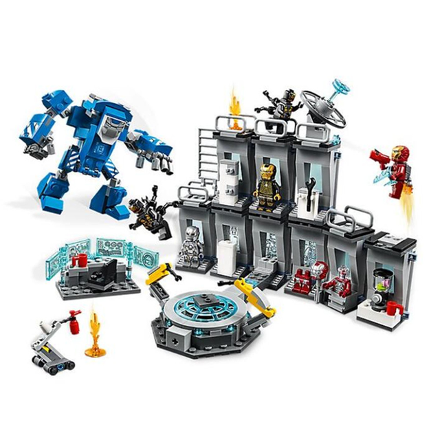 Marvel Avengers: Endgame Super Heroes Iron Man Hall of Armour Figures Building Blocks Bricks Kids Toys Compatible With Legoings