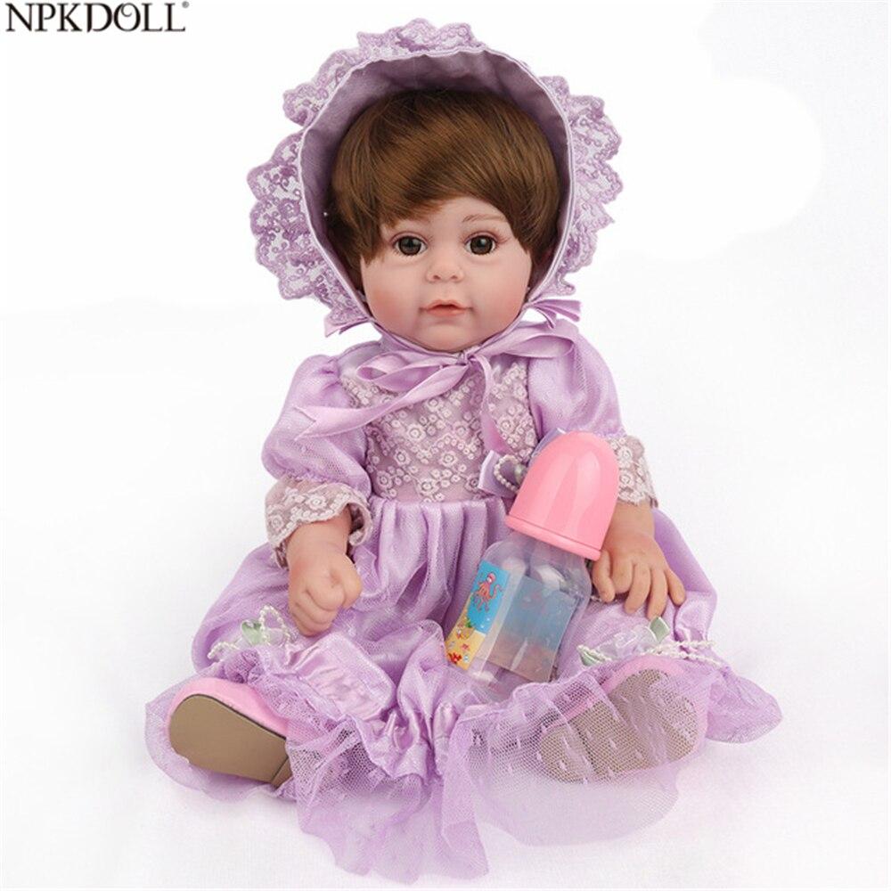 NPKDOLL 16 pouces Silicone Reborn bébé poupées enfants Playmate jouet cadeau pour les filles à la main princesse en gros baignable