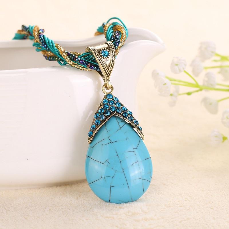 47 cm Handgemachte Vintage Ethnische Halskette Perlen Original Design - Modeschmuck - Foto 6
