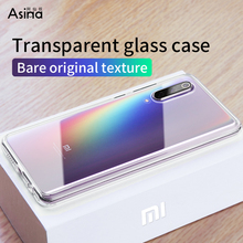 ASINA Transparent Tempered Glass Case For Xiaomi Mi 9 Cover Luxury Shockproof Bumper mi SE Coque Fundas